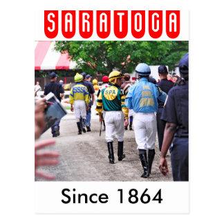 Cartão Postal Jóqueis de Saratoga