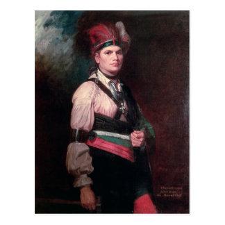 Cartão Postal Joseph Brant, chefe dos Mohawks, 1742-1807