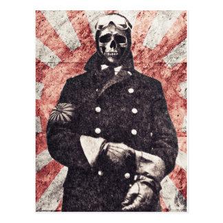 Cartão Postal Kamikaze do crânio