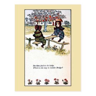 Cartão Postal Kate Greenaway: Balanço Jack