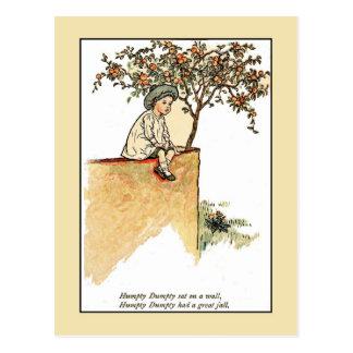Cartão Postal Kate Greenaway: Humpty Dumpty