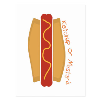 Cartão Postal Ketchup ou mostarda