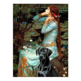 Cartão Postal Labrador (preto 1) - Ophelia