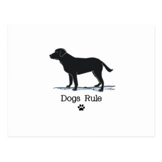 Cartão Postal Labrador retriever preto
