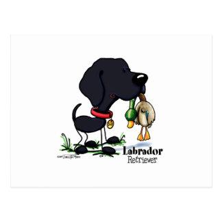 Cartão Postal Labrador retriever - preto