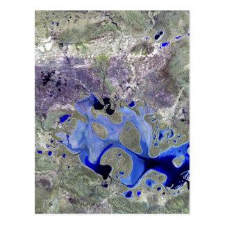 Cartão Postal Lago Carnegie Landsat 7