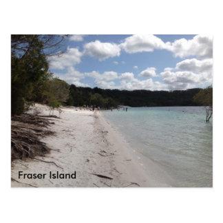 Cartão Postal Lago McKenzie, ilha de Fraser, Queensland