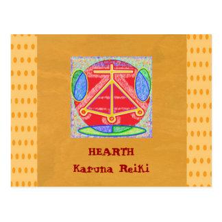 Cartão Postal LAREIRA - harmonia Bala da beleza da piedade da