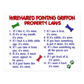 Cartão Postal Leis 2 da propriedade APONTAR GRIFFON WIREHAIRED