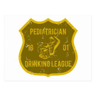 Cartão Postal Liga do bebendo do pediatra