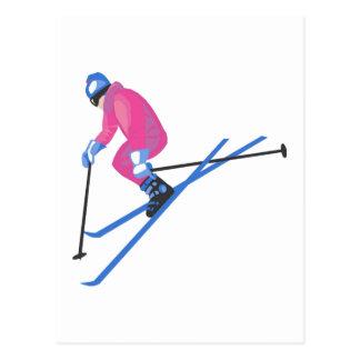 Cartão Postal Ligação em ponte de esqui