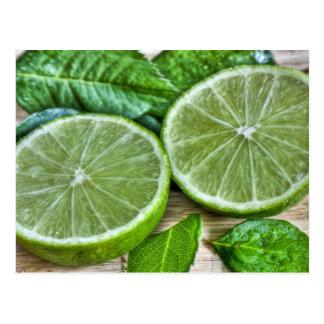 Cartão Postal Limões e hortelã verdes Mojito