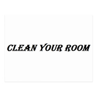 Cartão Postal limpe sua sala