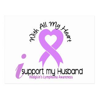 Cartão Postal Linfoma de Hodgkins eu apoio meu marido