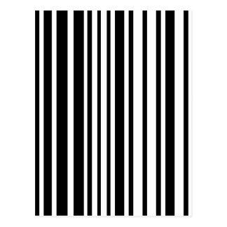 Cartão Postal Linhas preto e branco