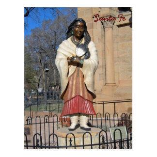 Cartão Postal Lírio de Kateri Tekakwitha da estátua dos Mohawks