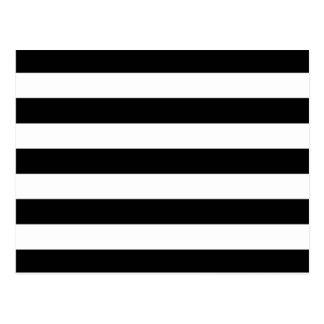 Cartão Postal Listras horizontais preto e branco corajosas