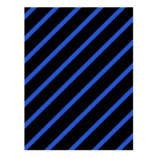 Cartão Postal Listras pretas e azuis