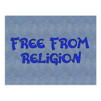 Cartão Postal Livre da religião