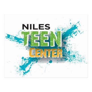 Cartão Postal Logotipo Center adolescente de Niles