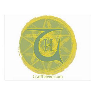 Cartão Postal Logotipo do abrigo do artesanato
