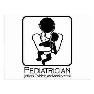 Cartão Postal LOGOTIPO do pediatra - doutor às crianças,