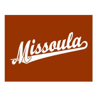 Cartão Postal Logotipo do roteiro de Missoula no branco