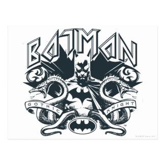 Cartão Postal Logotipo dos cobras de Batman |