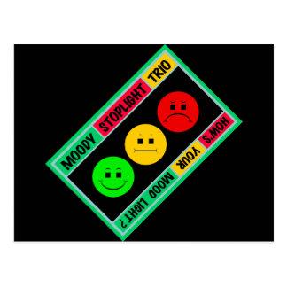 Cartão Postal Logotipo temperamental diagonal do trio do sinal