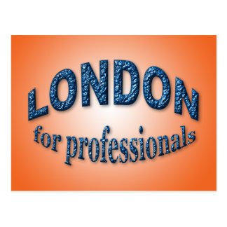 Cartão Postal Londres para profissionais