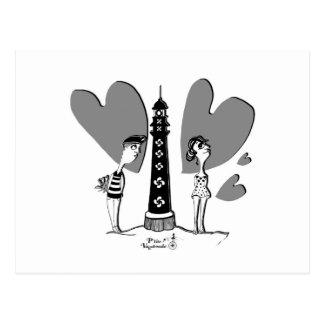 Cartão Postal Love dentro Biarritz