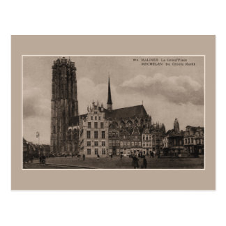 Cartão Postal Lugar grande de Mechelen Malines Grote Markt do