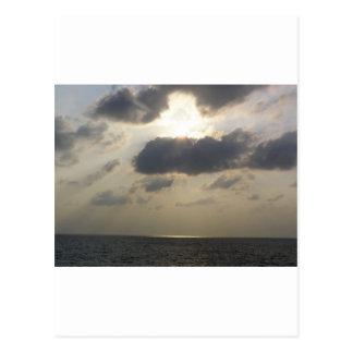 Cartão Postal Luminosidade de um por do sol