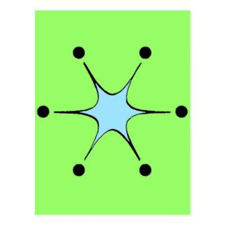 Cartão Postal Luz - Starburst azul