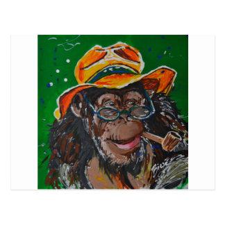Cartão Postal Macaco - cavalheiro