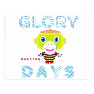 Cartão Postal Macaco-Morocko Dia-Bonito da glória