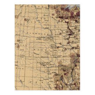 Cartão Postal Madeira serrada de 196 valores, milha de timber/sq