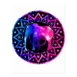 Cartão Postal Mandala do elefante c0011df2cb6
