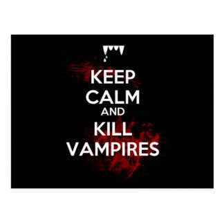 Cartão Postal Mantenha vampiros calmos e do matar