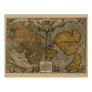 Cartão Postal Mapa da multa 1531 de Oronce