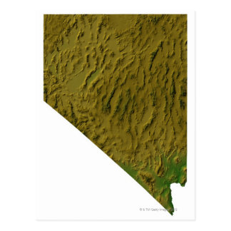 Cartão Postal Mapa de Nevada
