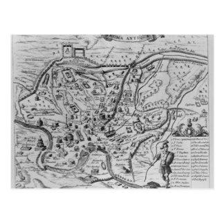 Cartão Postal Mapa de Roma antiga