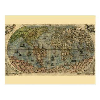 Cartão Postal Mapa de Universale Descrittione