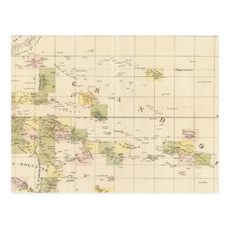 Cartão Postal Mapa do conjunto de Oceania
