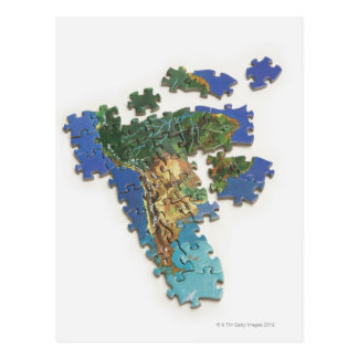 Cartão Postal Mapa do mundo, Ámérica do Sul 2