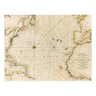 Cartão Postal Mapa do mundo antigo