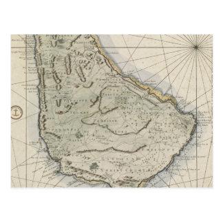 Cartão Postal Mapa do vintage de Barbados (1758)