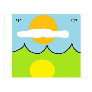 Cartão Postal mar