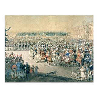 Cartão Postal Março das forças aliadas em Paris, 1815