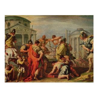 Cartão Postal Marcus Furius Camillus e Brennus